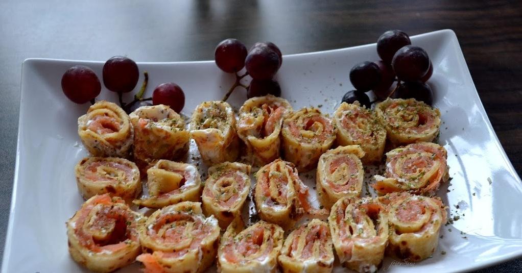 Pfannkuchen-Lachs-Sushi