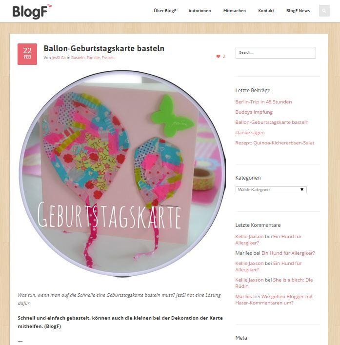 BlogF Geburtstagskarte DiY