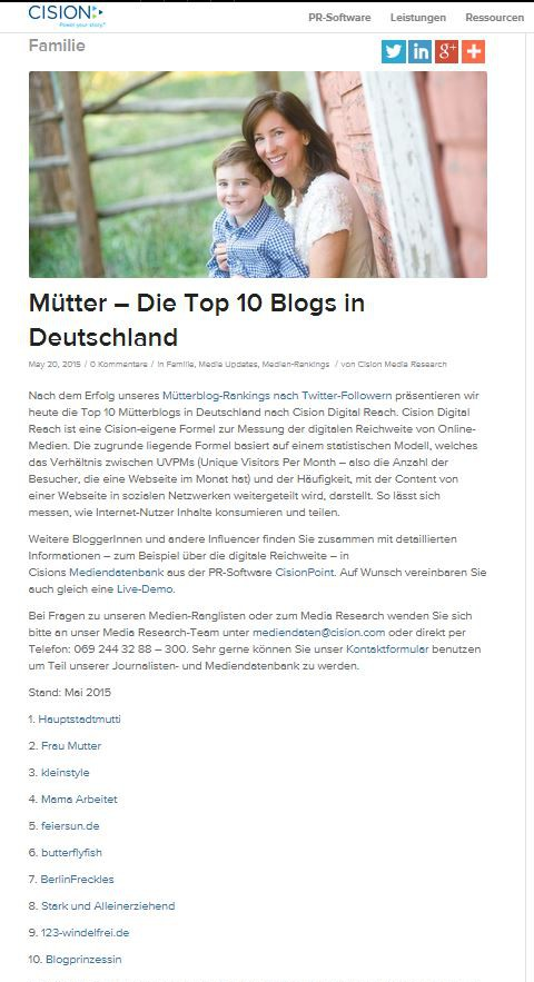 cision_Muetter Top 10 Blogs in Deutschland Referenzen