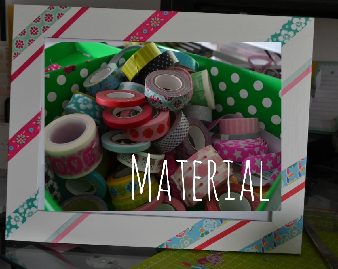 DiY Tape Bilderrahmen Material