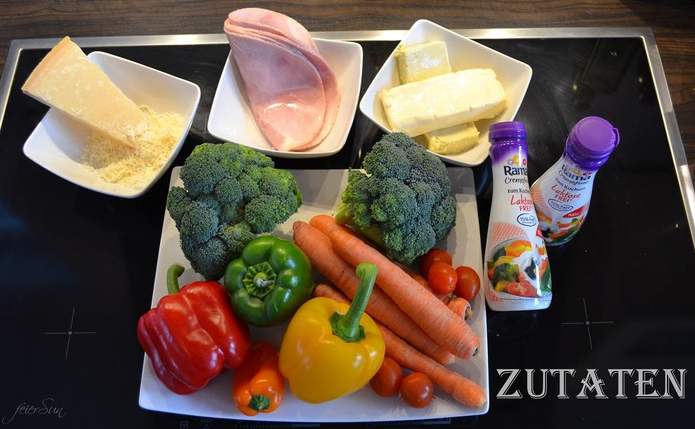 Lieblingspasta - Ueberbackene Kaese-Sahne-Schmetterlinge 01 Zutaten
