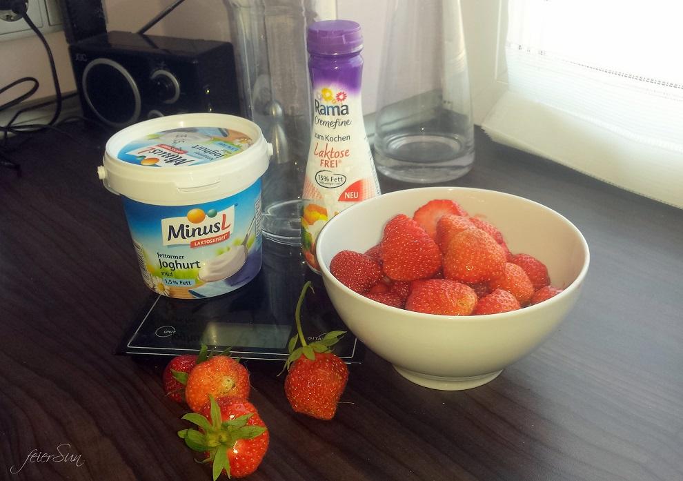 Erdbeer-Sommer-Smoothie Zutaten