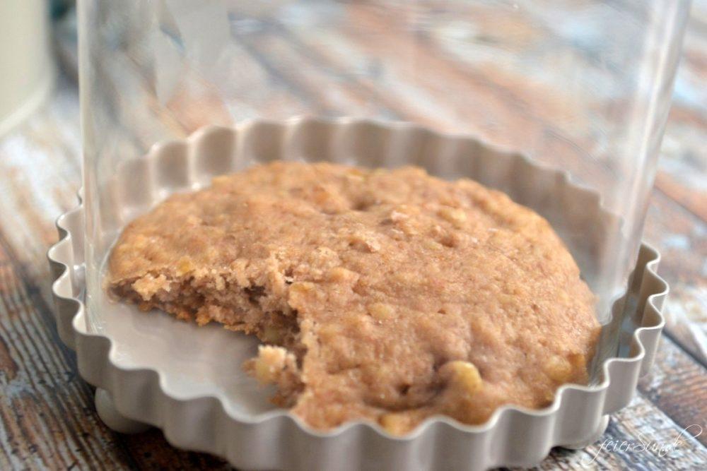 Bananen Walnuss Cookies angebissen
