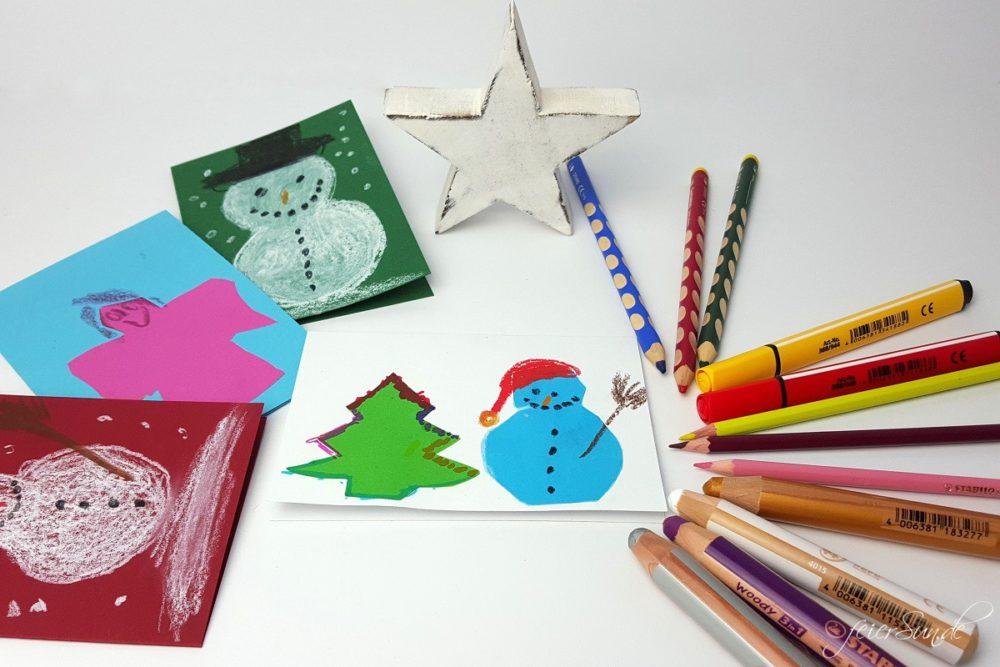 Handgemacht - Weihnachtskarten Titel