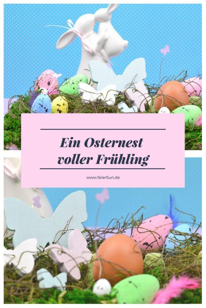 Einen Osterkranz kann jeder, aber wie wäre es mal mit einem immer blühendem Osternest? Ein einfaches DiY für Ostern. Für den Ostertisch oder die Ostertafel. Der perfekte Frühlingsbote. Ein schöner Blickfang auf dem Tisch voller Frühling und Farben. Basteln zu Ostern kann so einfach sein und das ist schnell gemacht. #feierSun #feierSunDiY #Ostern #Gesteck #Ostergesteck #Osterkranz