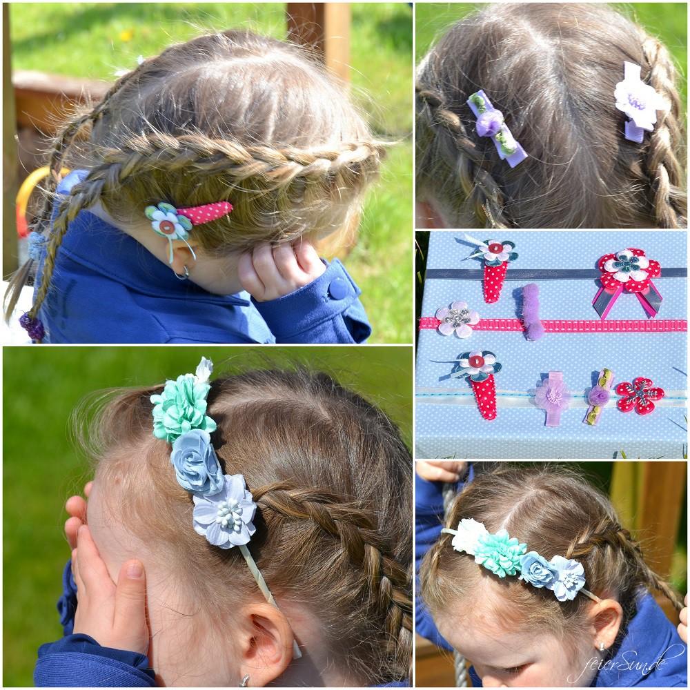 Kinderzimmergestaltung - Summer Time - froehliche Gestaltung Collage Haarspangen Haarreifen