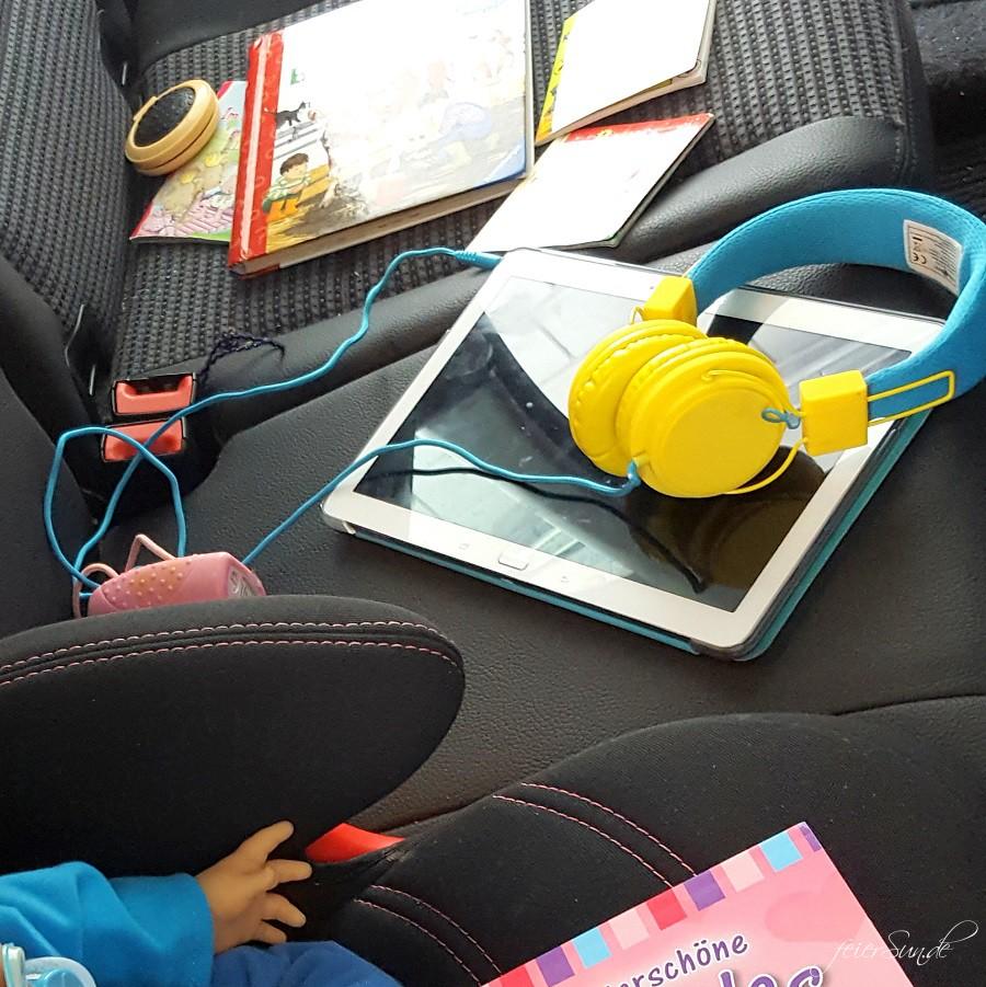 Reisen mit Kind im Auto Ausnahmen können auch etwas Zeit mit Tablet sein. Medienerziehung im Hause feierSun.de