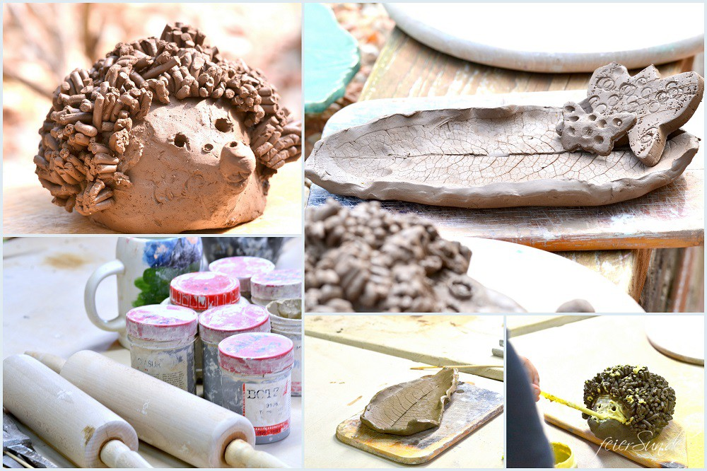 Töpfern mit Kindern - kreativ mit allen Sinnen sein Kreativität erleben mit der Erde modellieren mit Ton Erde kreativ erleben