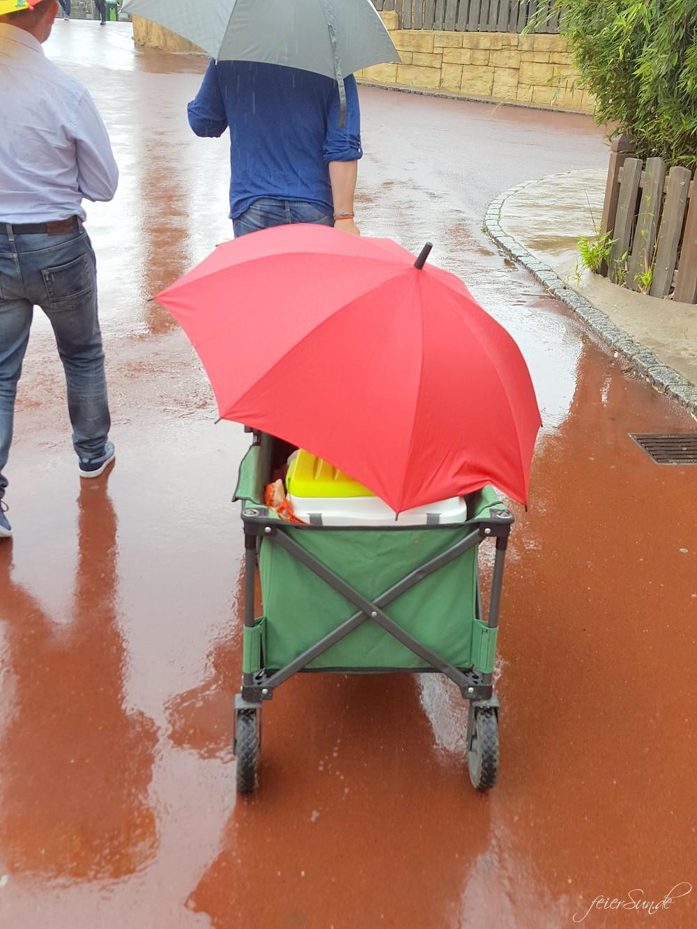 Mit der richtigen Ausrüstung macht ein Wenig Regen uns nichts aus