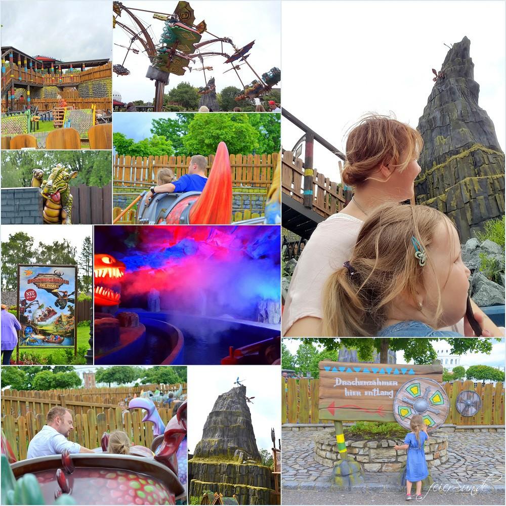 Ein Familientag im Freizeitpark - im Heide Park Soltau tankt meine Familie neue Power für den Alltag - Motte voraus hier sind wir bei Drachenzähmen - Die Insel
