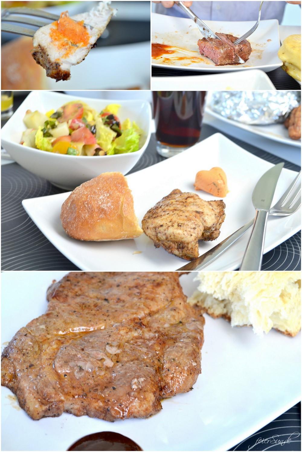 Alle an einen Tisch mit der Grillbox und das phantastische Fleisch aus der Kochzauber Grillbox 2016