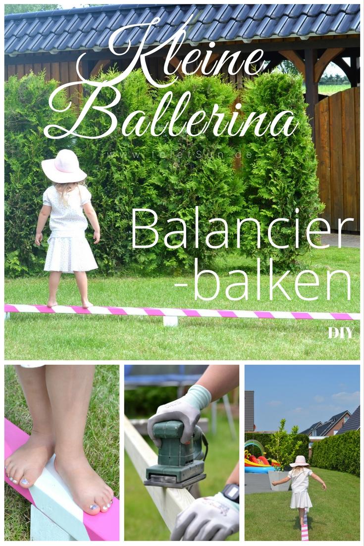 feierSun.de zeigt wie Du gaz einfach einen BalanCIerBalken bauen kannst. Denn kleine Ballerinas sollen tAnzen und sprinGen und balanCieren.