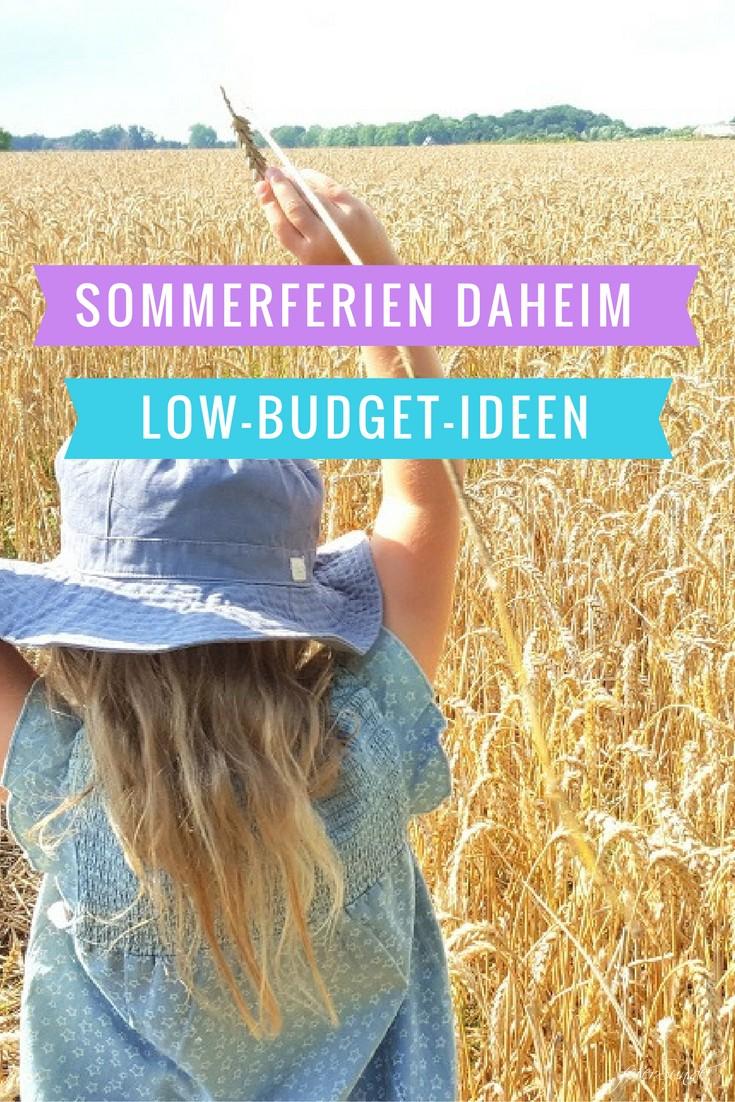 Sommerferien daheim - Low-Budget-Ideen für Kinder | feierSun.de