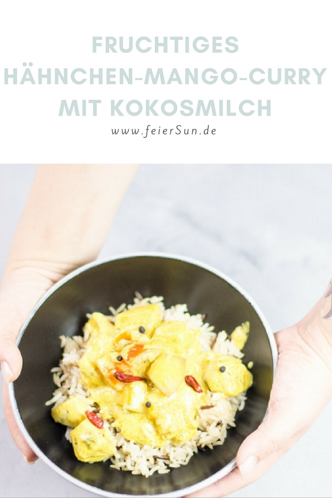 fruchtiges h hnchen mango curry mit kokosmilch. Black Bedroom Furniture Sets. Home Design Ideas