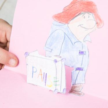 Ein DiY für eine Pop-Up-Karte als Einladung zur AuSzEit mit Paddington 2. Mit dem Kinostart&für gemeinsame Pausen // Familienzeit feierSun.de