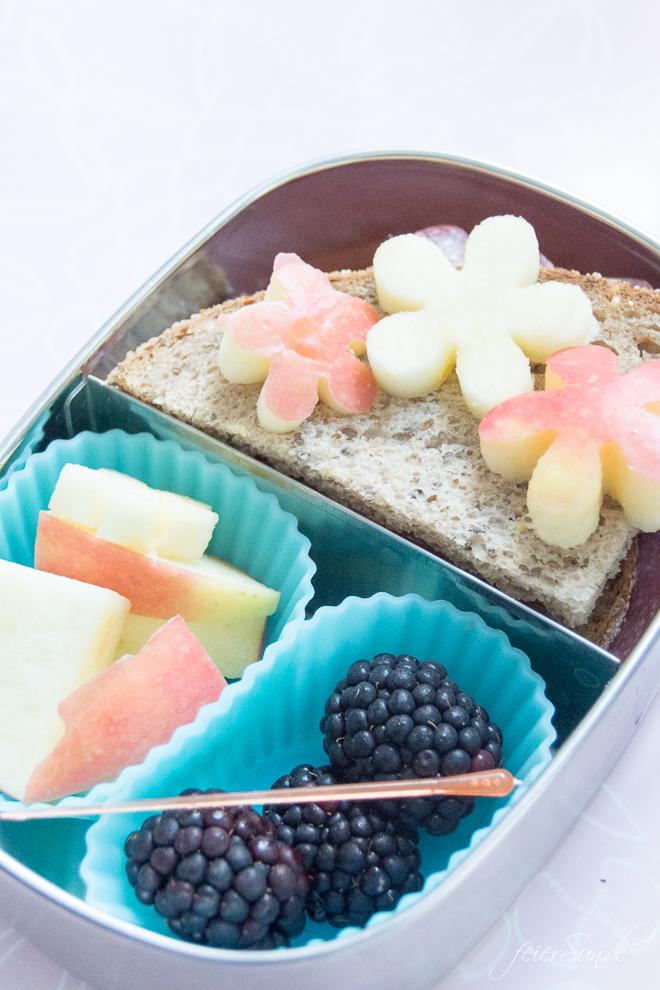 Du brauchst gesunde Inspiration dafür, was Du dem Kind in die #Lunchbox packst, damit es den Inhalt der #Brotdose auch isst? Dann hab ich hier viele Ideen, die auch wirklich gegessen werden. Das kommt bei uns rein und so isst auch Dein Kind seine #Brotbox leer! #Schule #KiGa #Kindergarten #gesundesEssen #Frühstück auf feierSun.de