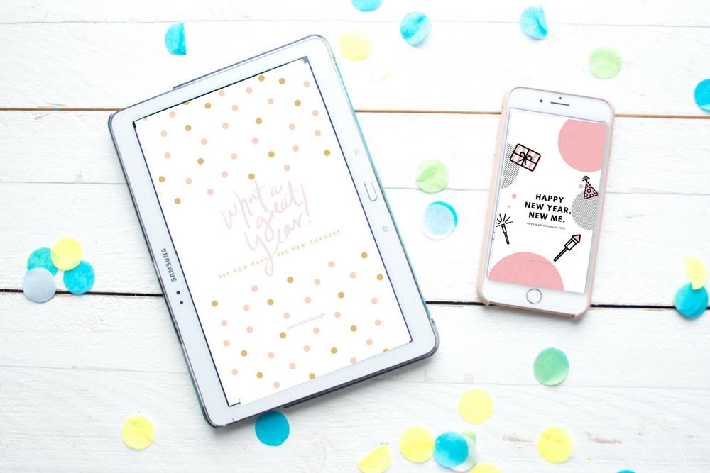 Neue Wallpaper für das neue Jahr - meine Design Freebies als kostenlose Printables. Eine neue Tapete für Dein Handy, Smartphone oder iPad. von feierSun.de
