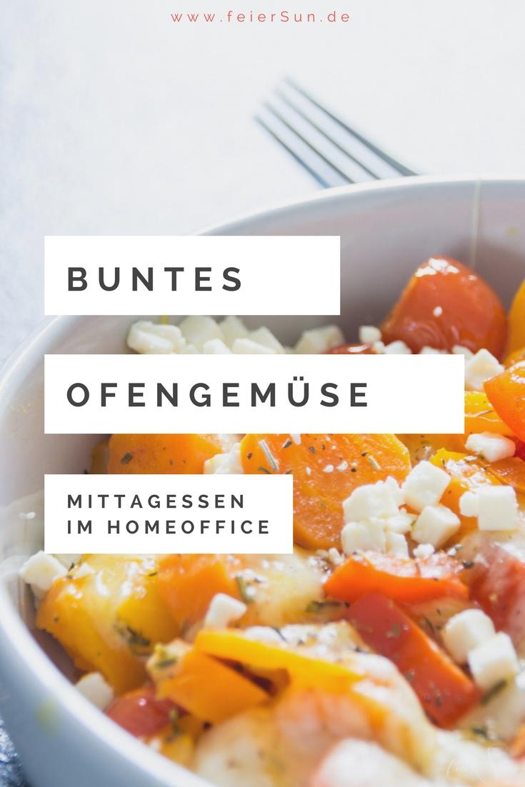 Schnelles Mittagessen welches auch noch super gesund ist und sich quasi von allein zubereitet? Buntes Ofengemüse. Leicht, lecker, vegetarisch und vegan und super variabel. Das leckere Rezept für das Mittagessen im HomeOffice heute auf #feierSun.de #Rezept #Gemüse #Office