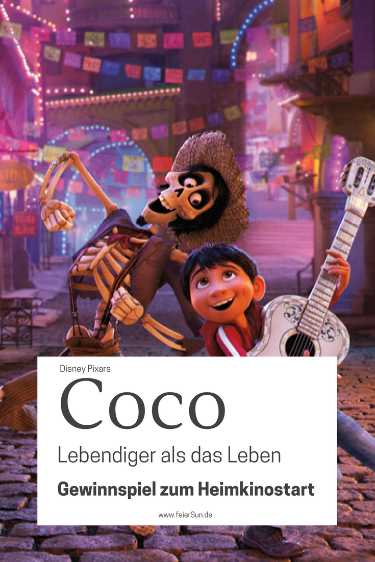 COCO - Lebendiger als das Leben ist ein Film für die ganze Familie. Denn erst wenn wir nicht mehr aneinander denken, sind wir wirklich gestorben. Mein Gewinnspiel zum Heimkinostart hat 7 spannende Fun Facts für dich bereit. Kino geht immer - auch Zuhause. | Anzeige |#Gewinnspiel #DVD #Heimkino #DisneyPixars #Disney