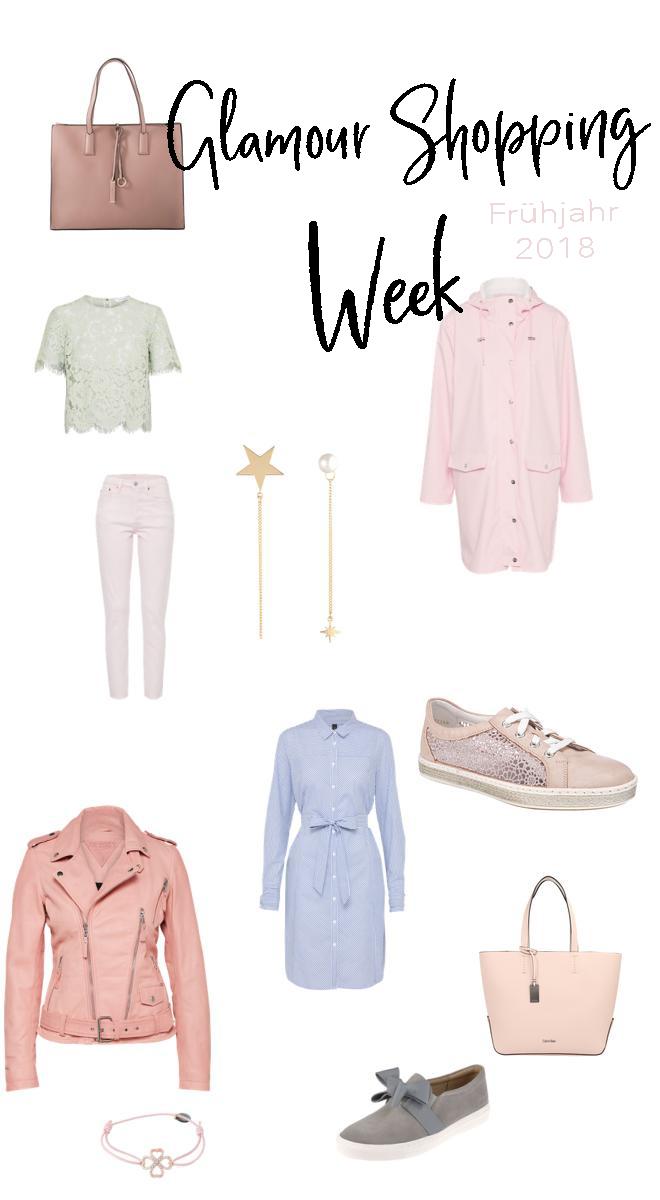Ich zeige dir meine Fashion Favoriten der Glamour Shopping Week für das Frühjahr 2018 inklusive der Codes. Denn die Glamour Shopping Week hat wieder spannende Angebote im Schlepptau. Ich hab die eine Auswahl der Angebote und meine Lieblinge dieser herausgesucht. Damit bekommst auch du den Frühlingstrend 2018. | #Frühlingstrend #Trend2018 #Mode #Favoriten #Fashion #MomFashion #feierSun #feierSunStyle #Inspiration
