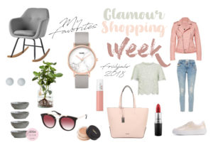 Ich zeige dir meine Favoriten der Glamour Shopping Week für das Frühjahr 2018. Denn die Glamour Shopping Week hat wieder spannende Angebote im Schlepptau. Ich hab die eine Auswahl der Angebote und meine Lieblinge dieser herausgesucht. Damit bekommst auch du den Frühlingstrend 2018. | #Frühlingstrend #Trend2018 #Mode #Favoriten #Fashion #MomFashion #feierSun #feierSunStyle #Inspiration #feierSunInspiration