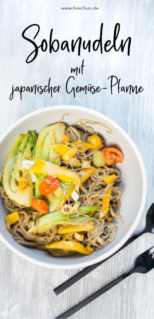 Lecker und gesund, praktisch und schnell - das sind Gerichte die in jeden Haushalt passen. Sobanudeln mit japanischer Gemüse-Pfanne sind ein leckeres knackiges Rezept. Es ist ballaststoffreich und nicht nur vegetarisch, sondern auch vegan und somit laktosefrei. Step by Step zeige ich dir im Video wie du dieses leckere Gericht schnell und einfach auf den Tisch zauberst. #feierSun #feierSunFood #kochen #gesund #lecker #rezept #schnell #einfach #Nudeln #asiatisch #japanisch #vegan #pakchoi #laktosefrei #sojasosse #kokosmilch #gesundeKüche #healthyfood #healthy #StepbyStep #Video