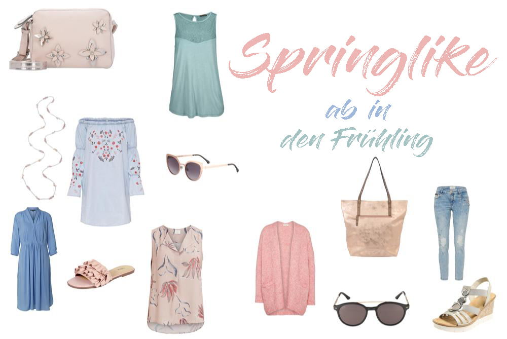 Frühjahrstrends 2018 eine Auswahl an Damenmode für den Frühling 2018