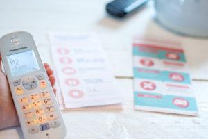 Notfall: 2 wichtiger Listen als Design-Freebies zum ausdrucken der Notfall-Telefon-Liste und der Liste der lebensrettenden 5-Ws