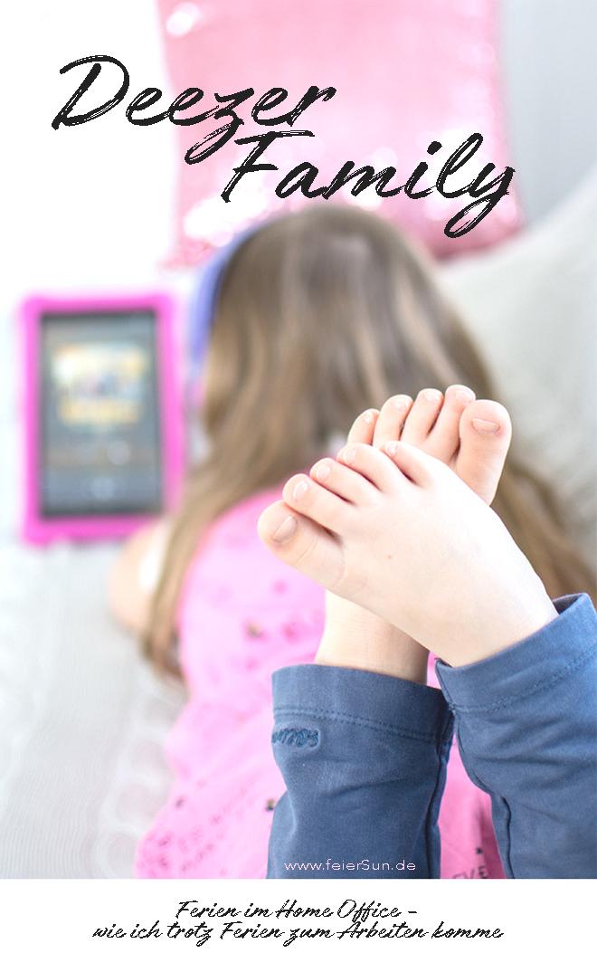Mit Deezer Family kommst du trotz Kind daheim im Home Office und Schulkind daheim zum Arbeiten und hast dabei sogar noch ein unterhaltendes Kind. Ich arbeite mit Deezer meinem persönlicher Streamingdienst für Musik, Hörbücher, Hörspiele, Podcasts und mehr. Home Offie mit Kind im Haus und etwas spannendes auf den Ohren.   #feierSun #Familienleben #feierSunFamily #Deezer #Anzeige #Streamingdienst #Musik #hörspiel #Geschichten #Ferienkind #Schulkind