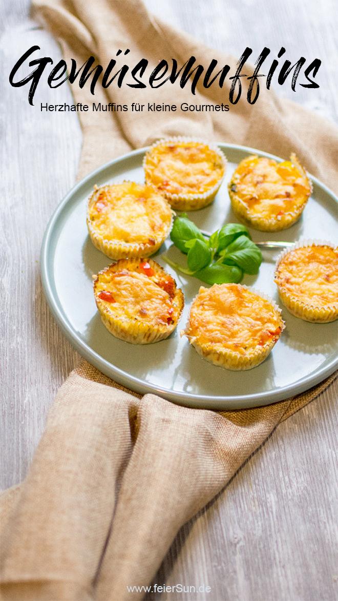 Herzhafte Muffins Für Kleine Gourmets Gemüsemuffins Feiersunde
