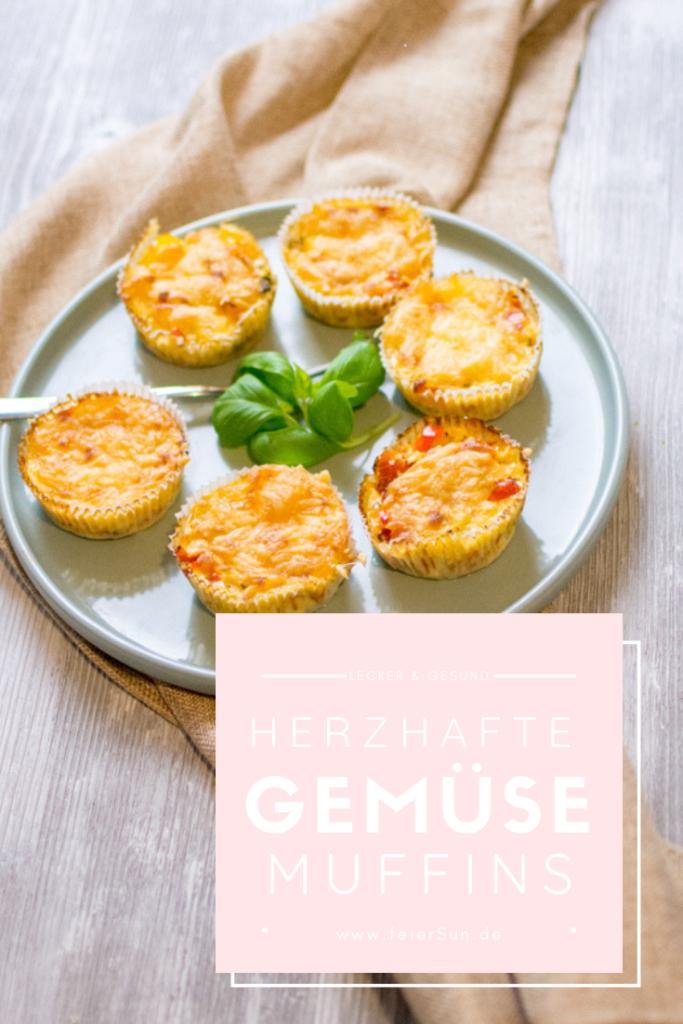 Leckere Gemüsemuffins sind herzhafte Muffins für kleine Gourmets und große Leckermäulchen. Muffins mit Gemüse schmecken in jeder Form nicht nur süß und mit nur minimalen Kohlenhydraten ist es ein leckeres Low-Carb Rezept aus dem Buch Kochen und backen mit der Maus. Ein laktosefreies Party-Muffin-Rezept | #feierSun #feierSunFood #Gemüsemuffins #foodforKids