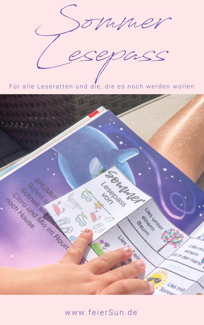 Der tolle Ferien-Lesepass | Lesepass für die Sommer-Ferien und den ganzen Sommer denn lesen macht Spaß. Dieser tolle Lesepass ist vollkommen kostenlos und bedingungslos. Für alle Leseratten