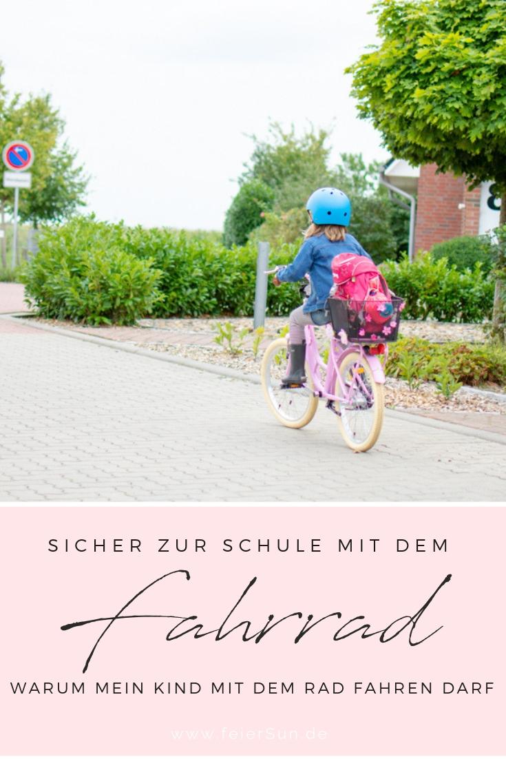 Elter-Taxis adé |Sicherer Schulweg mit dem Fahrrad zur Schule fahren darf mein Kind auch schon in der Grundschule. Entgegen allem Diskussionsstoff erlaube ich es meinem Kind, denn keine Schule darf ein Verbot dagegen aussprechen. Auch ohne Fahrradprüfung. Sicherheit und ein Verständnis für den Straßenverkehr bekommt man durch Praxis. Die haben wir seit Jahren. #feierSun #feierSunSchulkind #Schulkind #Schulweg #Fahrrad #SichererSchulweg