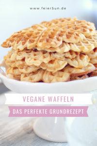 Vegane Waffeln | Mein perfektes milchfreies Waffelrezept als Waffel-Grundrezept. Dieses raffinierte Rezept eignet sich für jede Variation. Mein einfaches und unkompliziertes Grundrezept für saftige vegane Waffeln ohne Ei.