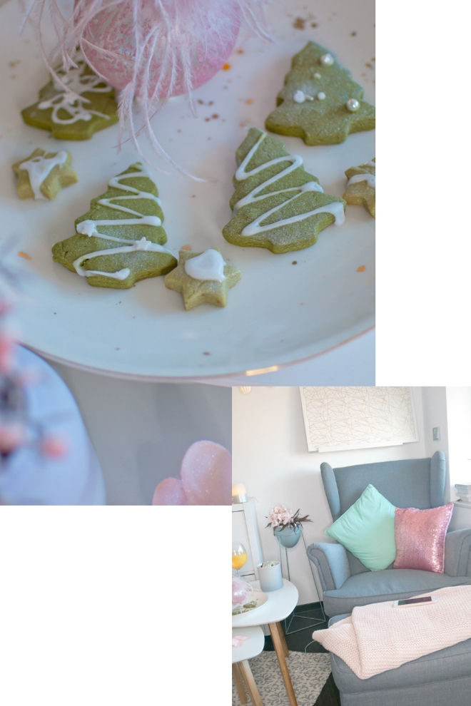 Ein super einfaches Rezept für vegane Matcha Kekse für deinen Moment im Advent. Herrliches Grün, erdiges Matchateearoma, zitronige Frische - das sind Mama-Kekse. Leckere Matchaplätzchen. Matcha Tannen. Energie-Kekse. #feierSun #feierSunFood #weihnachtsbäckerei