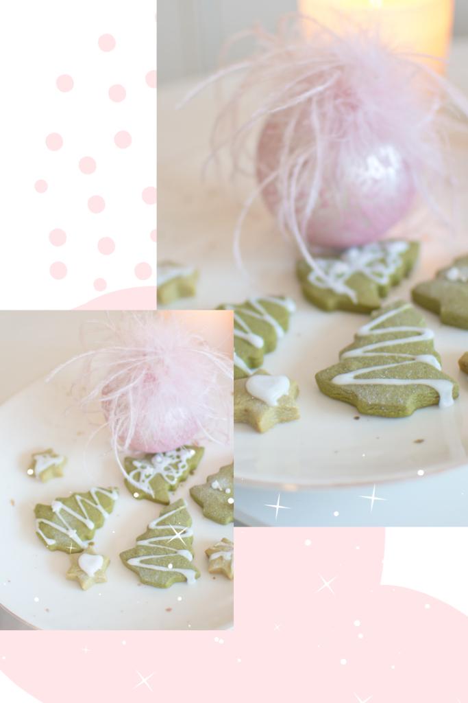 Ein super einfaches Rezept für vegane Matcha Kekse für deinen Moment im Advent. Herrliches Grün, erdiges Matchateearoma, zitronige Frische - das sind Mama-Kekse. Leckere Matchaplätzchen. Matcha Tannen. Energie-Kekse. #feierSun #feierSunFood #weihnachtsbäckereiDekorieren angeht.