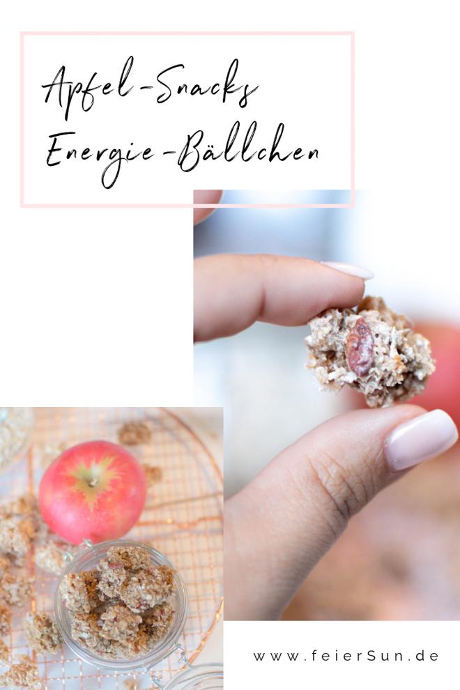 Total leckere Energiekuglen sind Apfelsnacks als Energiebällchen vegan und gesund. Ein kinderleichtes Rezept mit Energie für die ganze Familie - nicht so süß, aber dennoch super lecker. Leckere Energiekugeln. |#feierSun #vegan #feierSunFood