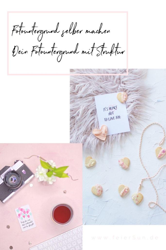 Fotografie-Untergrund |Ohne viel Aufwand deinen perfekten Untergrund für Fotos aller Art. Ob Flatlays, Food-Fotos, Produktfotografie oder um deine DiYs zu zeigen, ich zeige dir in dieser Anleitung wie einfach du deinen ganz individuellen Untergrund selber gestalten kannst. Foodstyling, Fotountergrund, Fotostyling, Props & Requisiten. Backdrop | #feierSun #feierSunDiY #feierSunPhotography
