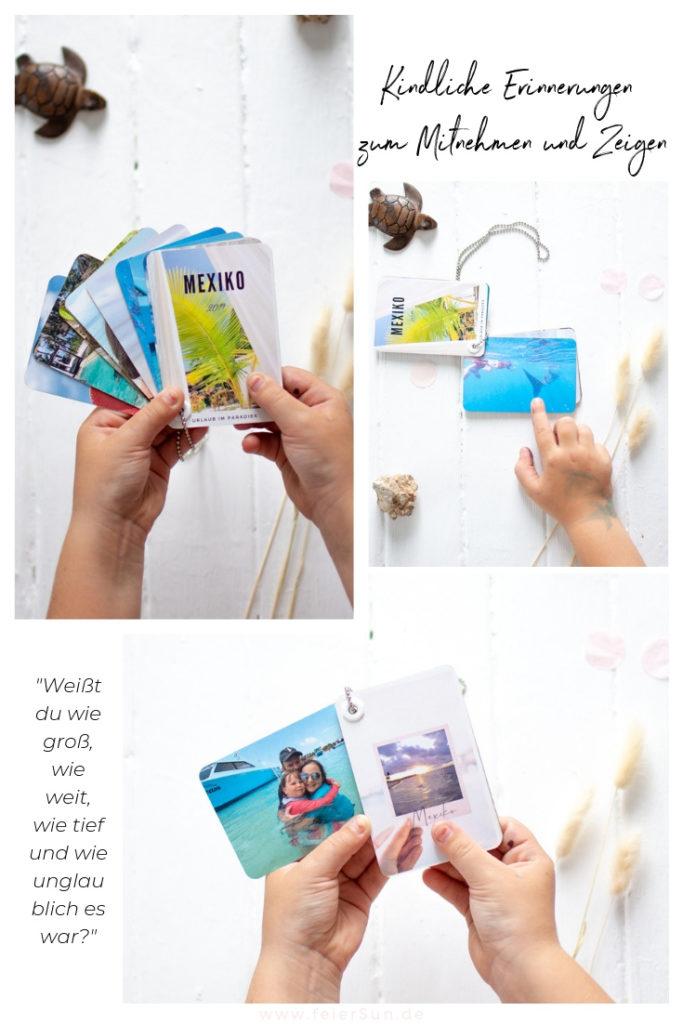Fingerbook für deine Urlaubserinnerungen: das kleine, portables Fotoalbum zum Auffächern für 24 Lieblingsbilder aus den Urlaub.  Fotogeschenk zum Mitnehmen. Urlaubserinnerungen - Rezeptbücher | #feierSun #Fotogeschenk #feierSunPhotography