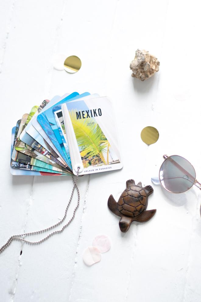 Fingerbook für deine Urlaubserinnerungen: das kleine, portables Fotoalbum zum Auffächern für 24 Lieblingsbilder aus den Urlaub.  Fotogeschenk zum Mitnehmen. Urlaubserinnerungen - Rezeptbücher