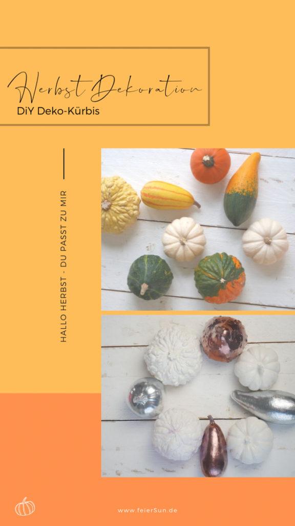 Hallo Herbst |Blitzschnell herbstlich stilvolle Tischdeko herstellen: DIY Kürbis Kunst | mit Sprühfarben (kupfer, weiß, rosa Dekokürbisse besprühen. DiY Herbst Dekoration  DIY Kürbis Kunst #kürbisdeko #herbstdeko #kürbissebesprühen #DIY