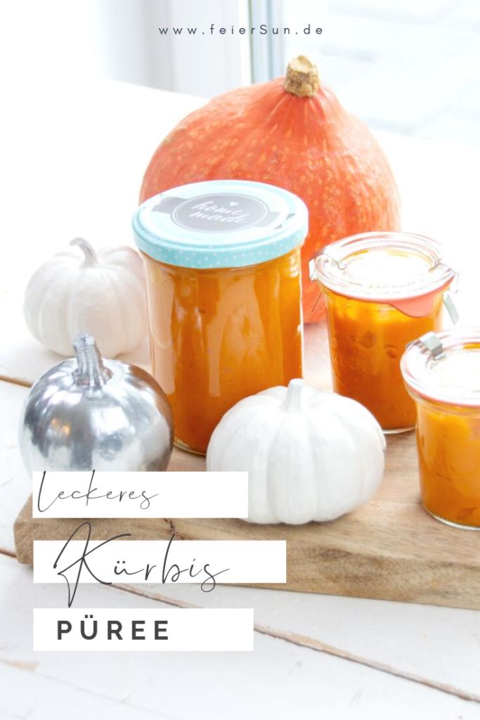 Herbstgruß aus der Küche: Schnell gemacht und vielseitig einsetzbar ist dieses Kürbispüree. Kürbismus ist Herbst im Glas. #Kürbispüree #Kürbismus #Hokkaido #feierSun #feierSunFood