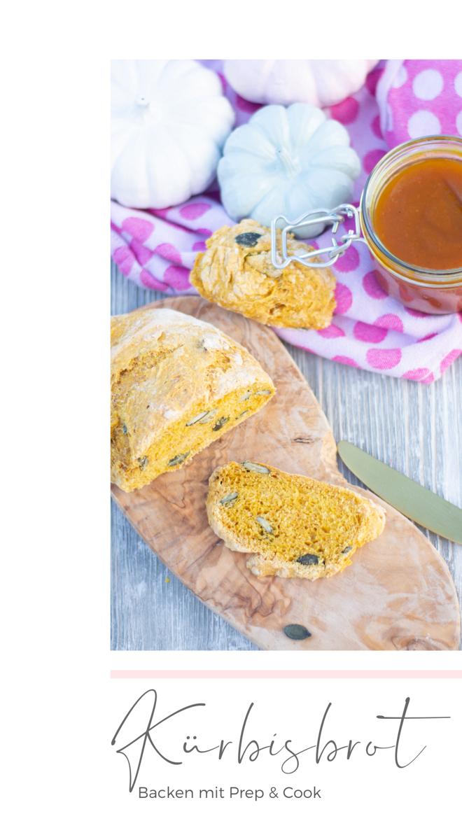 Backen mit Prep & Cook ist ganz einfach und perfekt für ein leckeres Kürbisbrot mit frischer Hefe und Hokkaido. Kürbisbrot Rezept für saftiges Brot mit Kürbiskernen und Kürbispüree aus der Prep and Cook.  | #feiersun #PrepandCook #feierSunFood