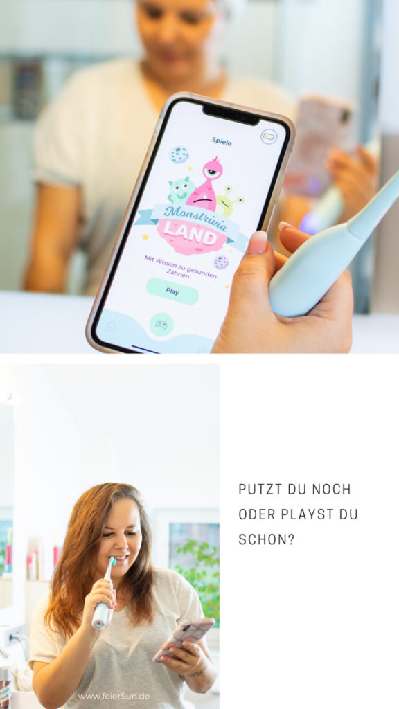 Let's play mit der Playbrush Smart OnePlaybrush Smart One ist deine stylische & intelligente Schallzahnbürste und mein Zahnputz-Coach. Putze mit Playbrush, interaktiven Apps & smarten Services. Coach, Spiele, Versicherung, Bürstenkopf-Lieferungen, Pers. Feedback. Bessere Mundhygiene. Individuelles Starter-Set. Die Smart One überzeugt mit smarten Funktionen | #feierSun #PlaybrushSmartOne #Playbrush #PlaybrushApp #zahnversicherung