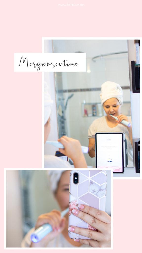 Meine Morgenroutine mit der Playbrush Smart OnePlaybrush Smart One ist deine stylische & intelligente Schallzahnbürste und mein Zahnputz-Coach. Putze mit Playbrush, interaktiven Apps & smarten Services. Coach, Spiele, Versicherung, Bürstenkopf-Lieferungen, Pers. Feedback. Bessere Mundhygiene. Individuelles Starter-Set. Die Smart One überzeugt mit smarten Funktionen | #feierSun #PlaybrushSmartOne #Playbrush #PlaybrushApp #zahnversicherung