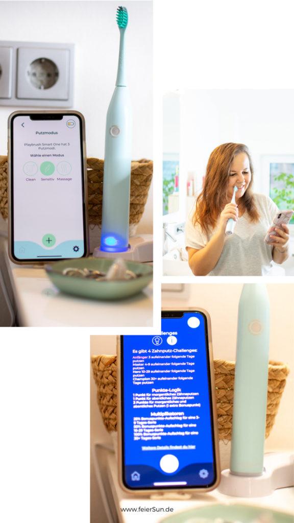 Smart in den Tag mit der Playbrush Smart One ist deine stylische & intelligente Schallzahnbürste und mein Zahnputz-Coach. Putze mit Playbrush, interaktiven Apps & smarten Services. Coach, Spiele, Versicherung, Bürstenkopf-Lieferungen, Pers. Feedback. Bessere Mundhygiene. Individuelles Starter-Set. Die Smart One überzeugt mit smarten Funktionen | #feierSun #PlaybrushSmartOne #Playbrush #PlaybrushApp #zahnversicherung