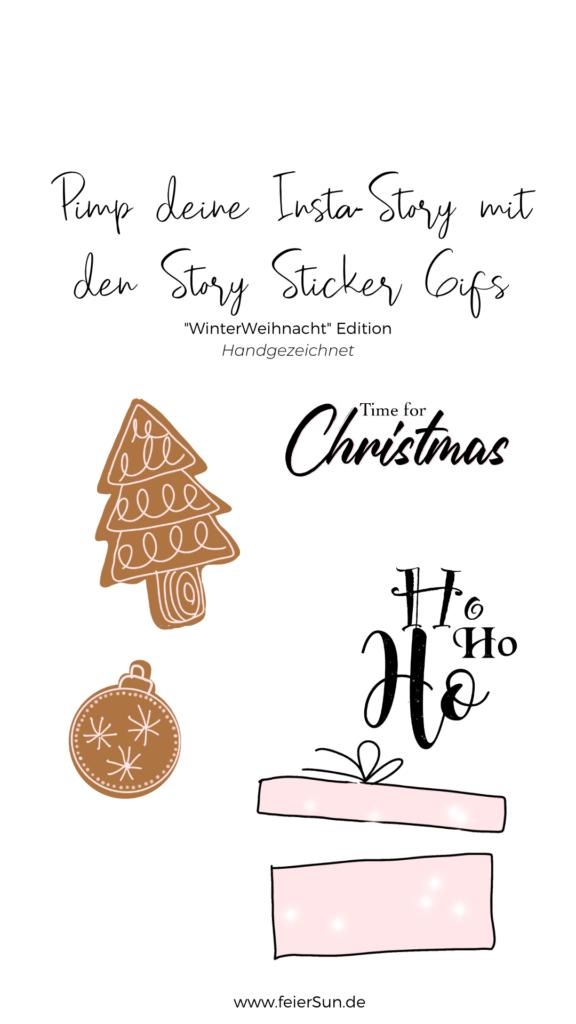 Mach deine Insta-Story individuell und verschönere sie mir meinen Gifs. Kleine Designelemente die sich bewegen und deine Instagram Story verschönern. Exlusiv und von mir selbst hangezeichnet. Mein Geschenk an dich.  Lichterketten, Rahmen, Schneeflocken, Schriftzüge, Kekse, ein Mistelzweig inkl. Schneemann und Geschenke sowie andere schöne Winter-Weihnachts-Desings von mir HANDGEZEICHNET exklusiv für dich.   #feierSun #giveaway #storysticker #gifs #feierSunFreebie #feierSuNDesign