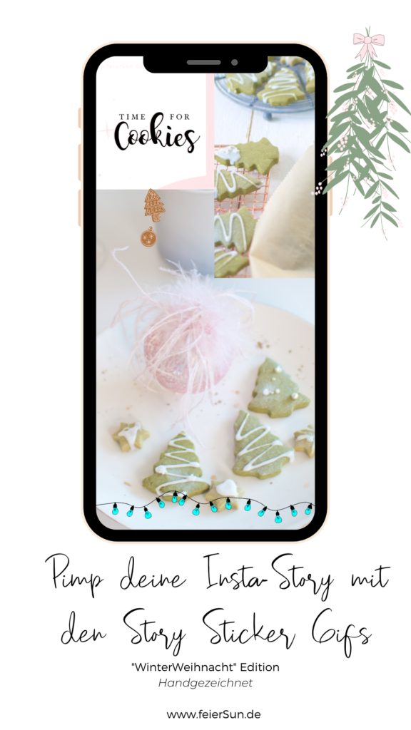 Instagram Story Sticker sind eine süße Art, deine Instagram Stories und Social Media individuell zu gestalten. Dieses Sticker-Pack für voller süßer Gifs für deine Social Media Kanäle.  Lichterketten, Rahmen, Schneeflocken, Schriftzüge, Kekse, ein Mistelzweig inkl. Schneemann und Geschenke sowie andere schöne Winter-Weihnachts-Desings von mir HANDGEZEICHNET exklusiv für dich. Lichterketten, Rahmen, Schneeflocken, Schriftzüge, Kekse, ein Mistelzweig inkl. Schneemann und Geschenke sowie andere schöne Winter-Weihnachts-Desings von mir HANDGEZEICHNET exklusiv und kostenlos für dich.   #feierSun #giveaway #storysticker #gifs #feierSunFreebie #feierSuNDesign