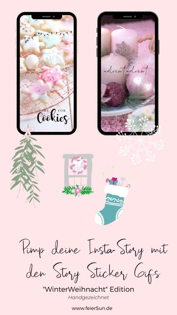 Kostenlose Instagram-Sticker-Gifs zum Thema WinterWeihnacht für dein Instagram-Story. Mach deine eigenen Storys in diesem Winter und versüße sie mit den Story-Stickern von mir. Handgezeichnete Insta-Story-Gifs.  Lichterketten, Rahmen, Schneeflocken, Schriftzüge, Kekse, ein Mistelzweig inkl. Schneemann und Geschenke sowie andere schöne Winter-Weihnachts-Desings von mir HANDGEZEICHNET exklusiv für dich.  Lichterketten, Rahmen, Schneeflocken, Schriftzüge, Kekse, ein Mistelzweig inkl. Schneemann und Geschenke sowie andere schöne Winter-Weihnachts-Desings von mir HANDGEZEICHNET exklusiv für dich.   #feierSun #giveaway #storysticker #gifs #feierSunFreebie #feierSuNDesign