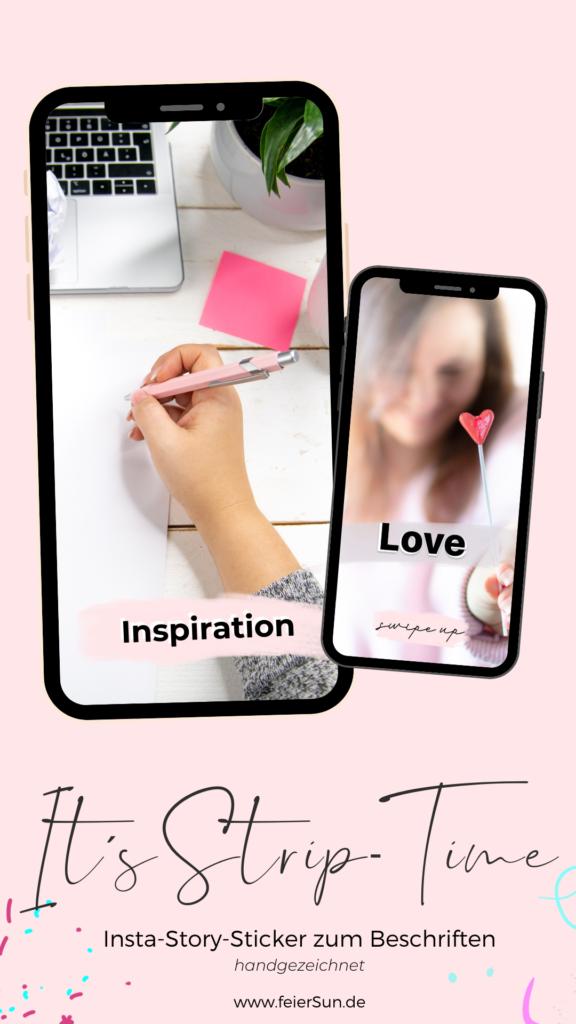 Lade dir kostenlose Instagram Story Sticker herunter. Story Stickers | Design Elemente kostenlos Design Elemente für Instagram & Co.